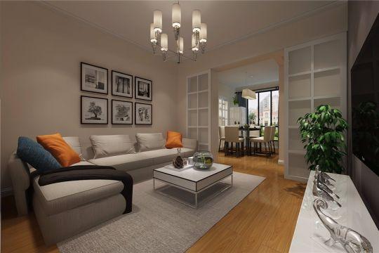 简约风格112平米三室两厅新房装修效果图