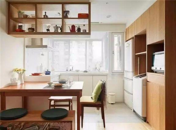 厨房白色橱柜日式风格装修效果图
