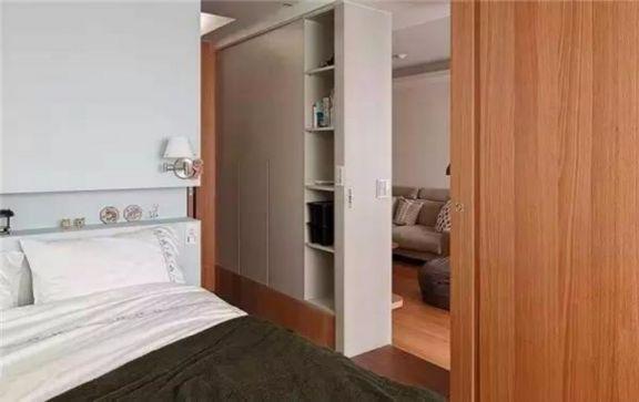 卧室灰色衣柜日式风格装饰效果图