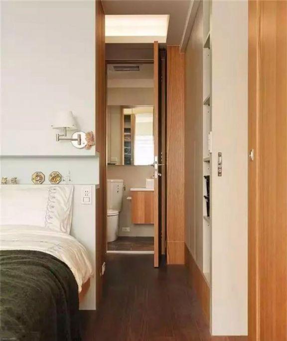 卧室白色床日式风格装潢效果图