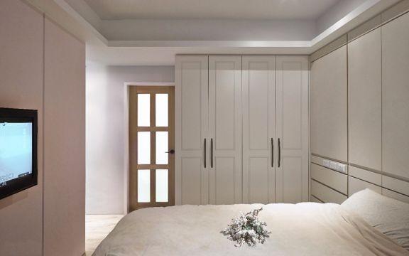 卧室白色衣柜简约风格装饰图片