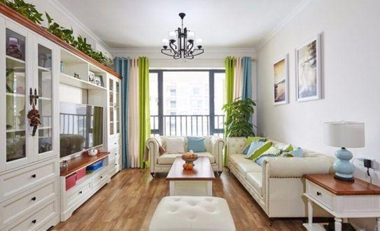 田园风格78平米两室两厅新房装修效果图