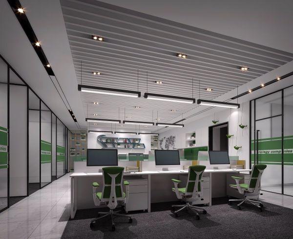 化妆品公司办公室装修设计案例