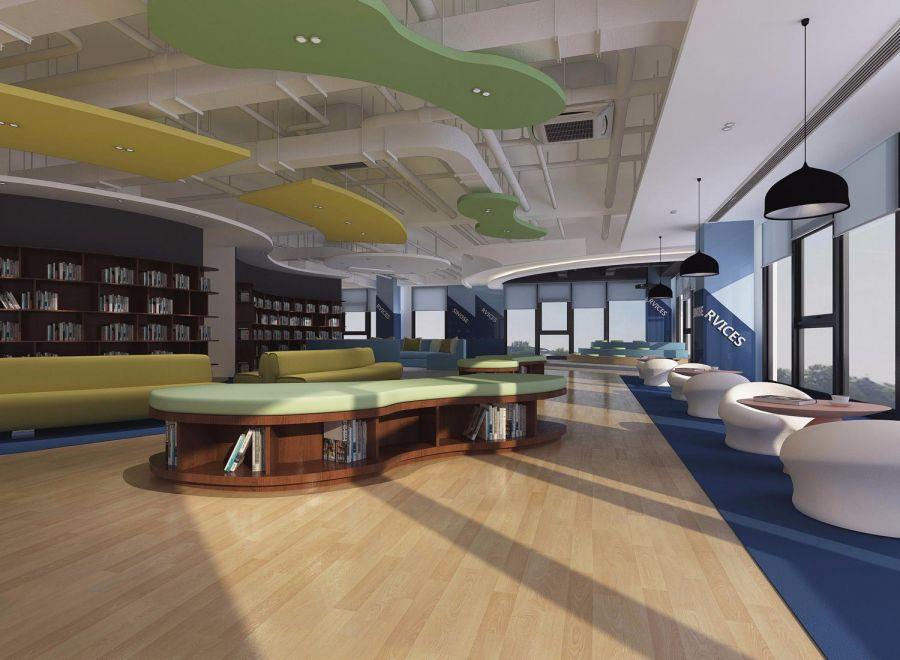 信息公司办公室装修设计案例