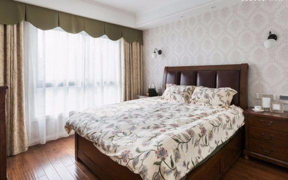 卧室黄色窗帘现代简约风格装修设计图片