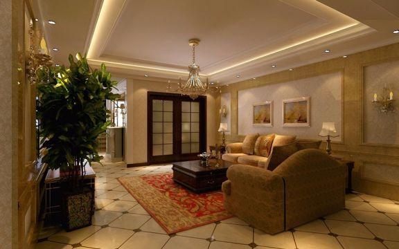 经典简欧风格四居室90平米装修效果图