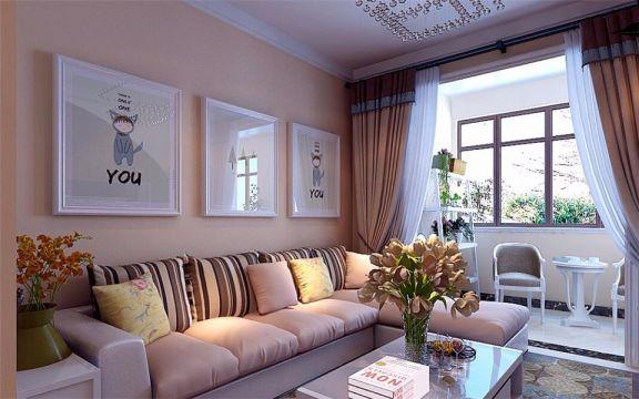 客厅咖啡色沙发现代简约风格装修效果图