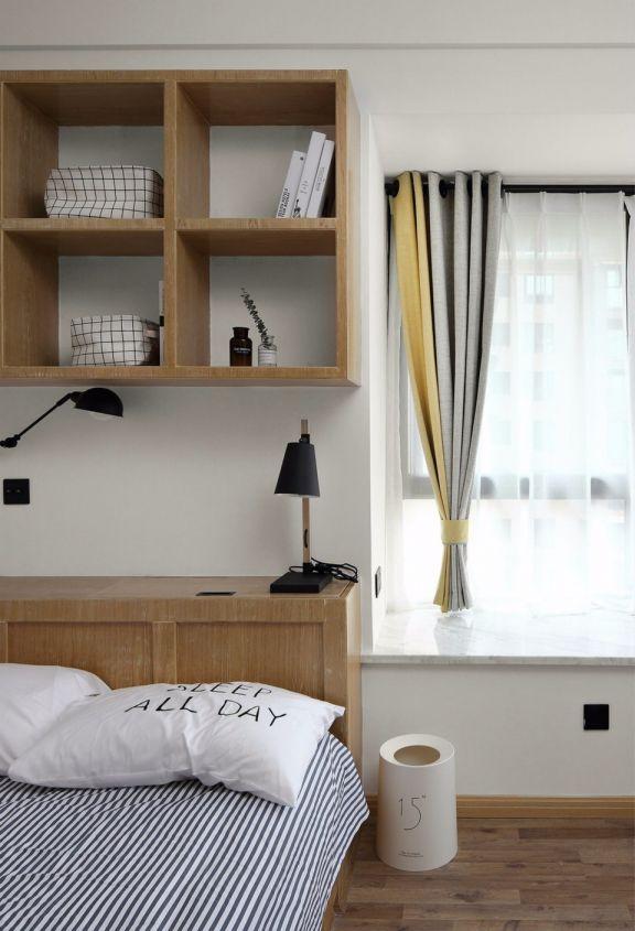 卧室白色飘窗北欧风格装修效果图