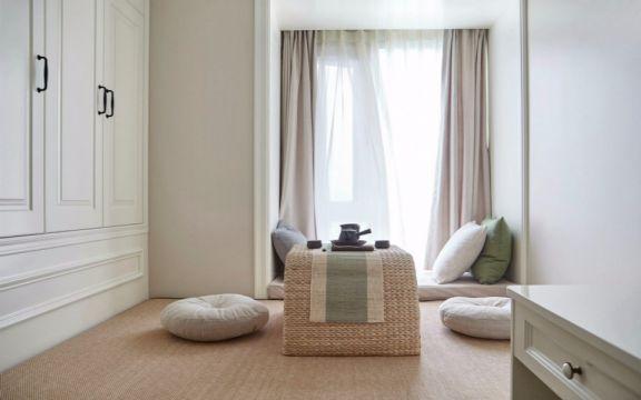 卧室粉色窗帘装潢图