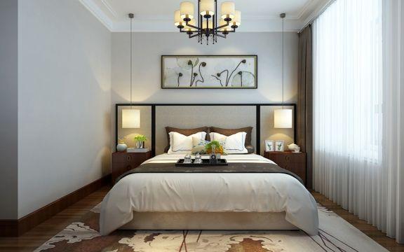 精致卧室床装潢实景图