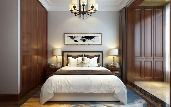 质感卧室中式装修案例效果图