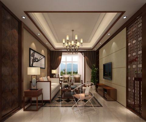新中式客厅吊顶家装设计