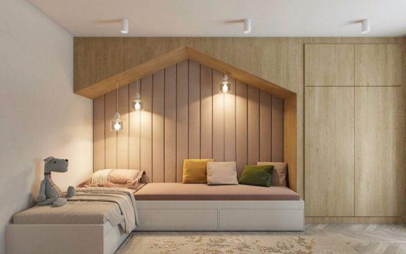 现代简约卧室榻榻米设计图欣赏