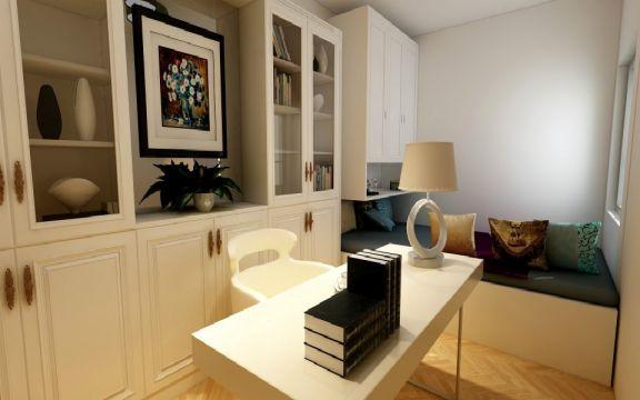 书房白色北欧风格装修效果图