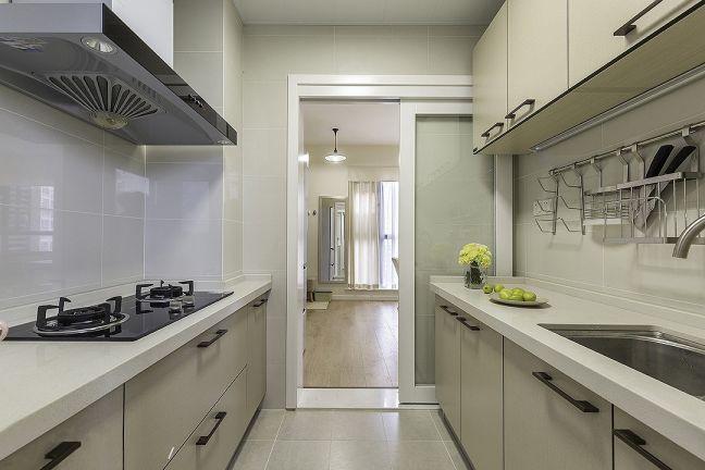 厨房白色推拉门简约风格装潢图片