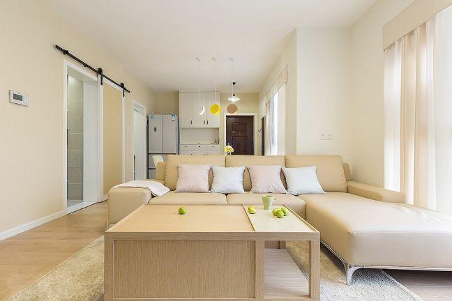 客厅黄色沙发简约风格装饰设计图片