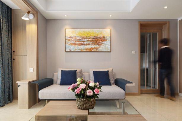 客厅窗帘现代简约风格装修图片