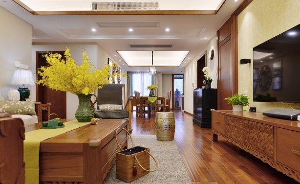 东南亚风格180平米四室两厅新房装修效果图