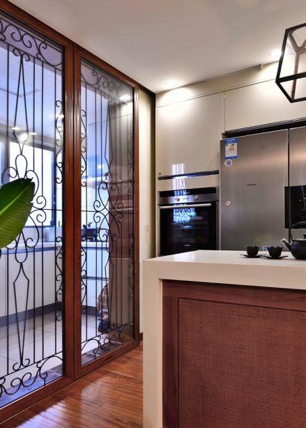 厨房推拉门东南亚风格装潢效果图