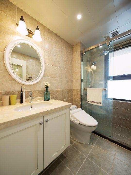 卫生间洗漱台美式风格装修设计图片