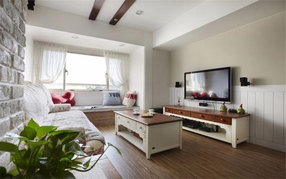 田园风格83平米两室两厅新房装修效果图