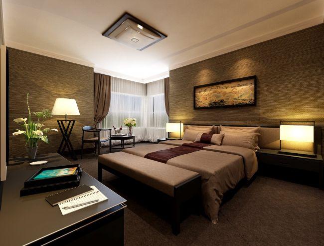卧室咖啡色细节现代简约风格装修设计图片