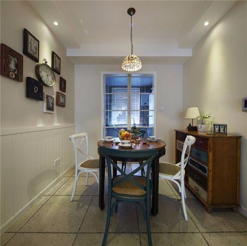餐厅蓝色餐桌美式风格装修图片