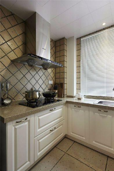 厨房白色厨房岛台美式风格装饰图片
