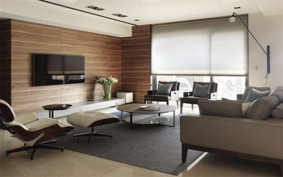 现代客厅沙发装修案例图片