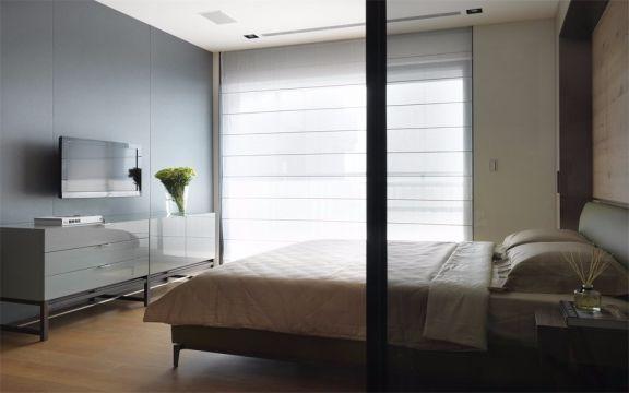 卧室灰色电视柜现代风格效果图