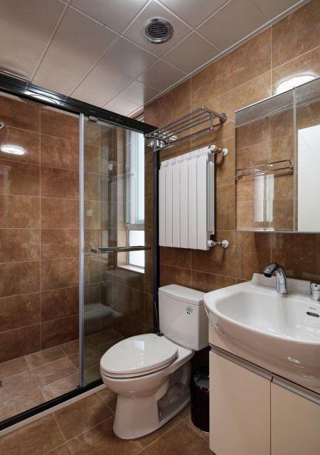 卫生间推拉门中式风格装饰设计图片