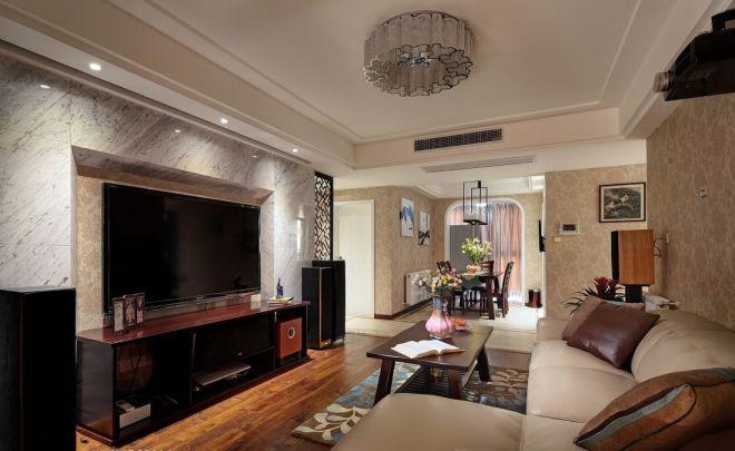 美利山中式风格三居室111平装修效果图