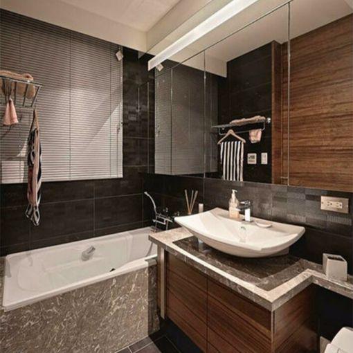 浴室浴缸日式风格装潢图片