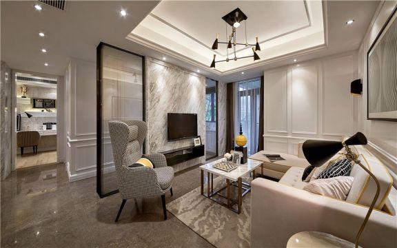金地天逸130平米现代风格三居装修效果图