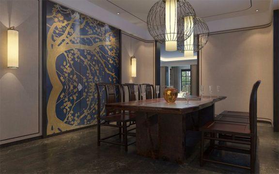 餐厅餐桌新中式风格装潢图片