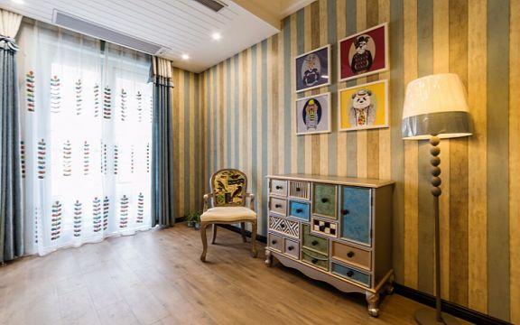 书房照片墙美式风格装修设计图片