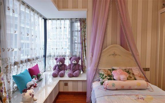 儿童房飘窗美式风格装修设计图片
