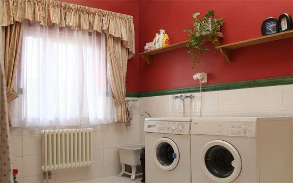 卫生间窗帘美式风格装潢图片
