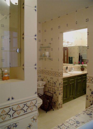 卫生间地砖美式风格效果图