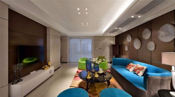 奥园越时代现代风格88平三居室装修效果图