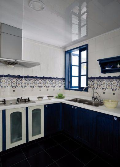厨房厨房岛台地中海风格装饰图片