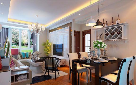 现代风格96平米楼房室内装修效果图
