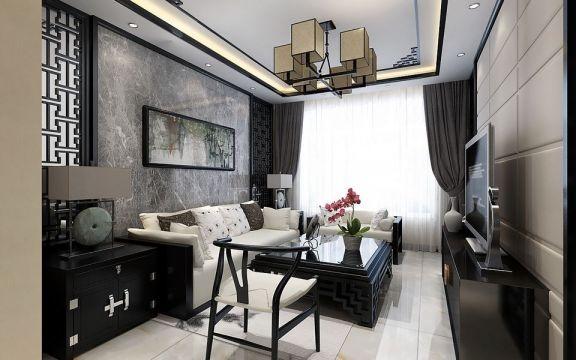 4万预算73平米两室两厅u乐娱乐平台设计图