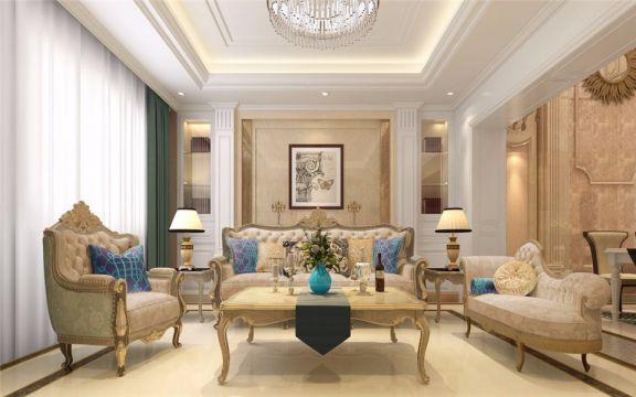 简欧风格200平米别墅新房装修效果图