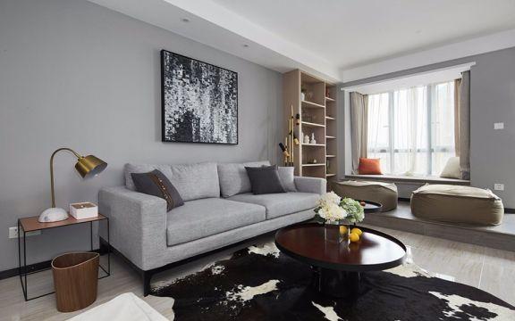 70平米简约风格二居室装修效果图
