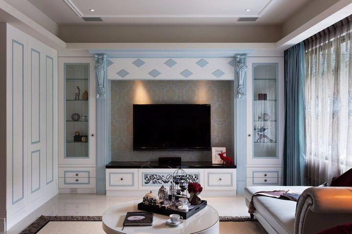 华润中央公园欧式风格127平三居室装修效果图