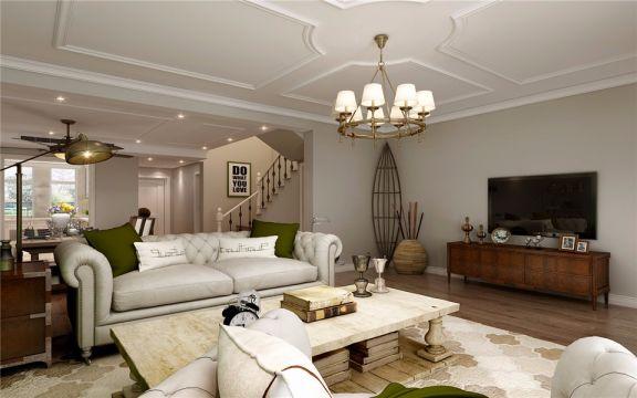 首创国际半岛240平米别墅欧式风格装修效果图