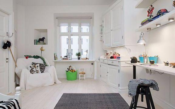 书房沙发北欧风格装潢设计图片