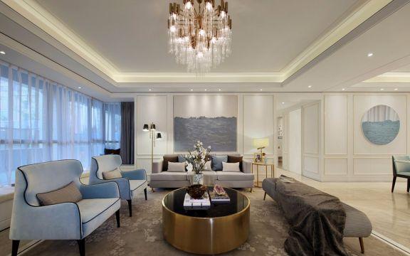 象山雅苑现代风格140平方四居室装修效果图