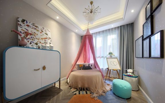 儿童房床现代简约风格装饰效果图